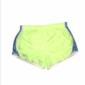 Justice Yellow and Blue Peace Sign Athletic Shorts
